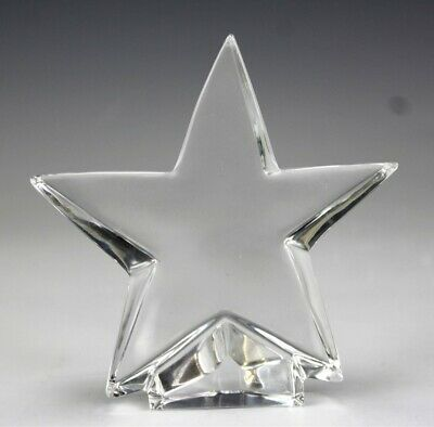 Baccarat France French Crystal Christmas Xmas Clear Art Glass Star Sculpture KBA