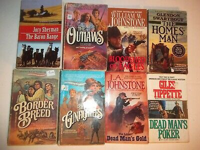 Lot 8 Western Paperback Books Johnstone Willoughby Tippette Etc