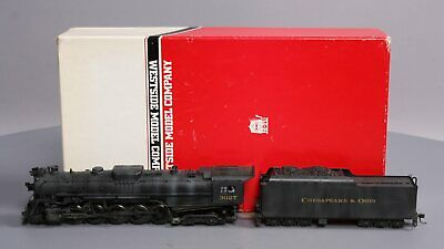 Westside Model Co. HO BRASS C&O Class T-1 2-10-4 Weathered Steam Loco.Tender/Box