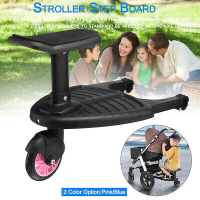 Stand/Sit Onboard Stroller / Pushchair / Buggy Step Board With Universal Adapter
