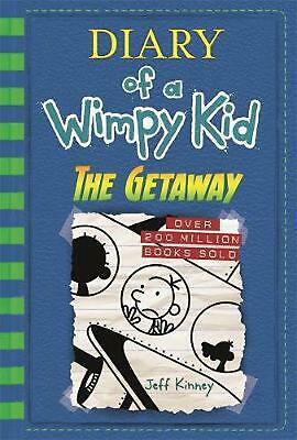 The Getaway: Diary of a Wimpy Kid (BK12) by Jeff Kinney Hardcover Book Free Ship