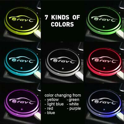 6 Led Coaster For Car Or Home Use Led Car Cup Holder Pad Bottle Coasters