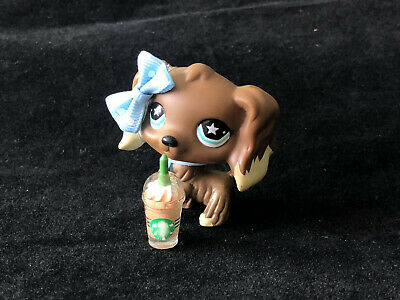 Rare Hasbro Littlest Pet Shop LPS Cocker Spaniel #960 With Accessories Authentic