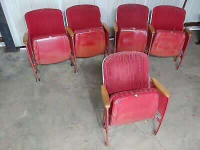 10 Vintage 50's Theater Chair Seating Antique