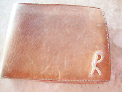 Vintage Signed Roberta Di Camerino Brown Leather Wallet Change Purse Billfold