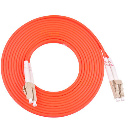 150FT LC to LC Multimode 3mm 50//125 Duplex Fiber Optic Cable New 12358-150FT