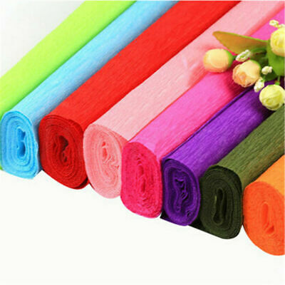 1 roll DIY Flower Wrapping Packing Crepe Papers Handmade Materials Crinkled