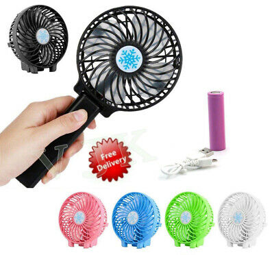 USB Ventilateur rechargeable mini portatif Main Batterie Bureau Portable Mai Fan