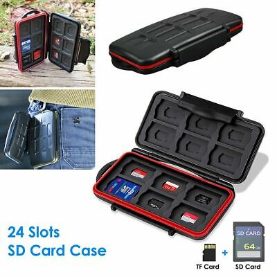 Fits 12 SD+12 Micro SD Cards Memory Card Case Hard Protector Box Storage Holder