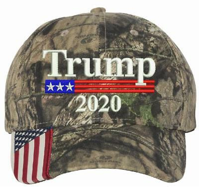 Donald Trump Cap Keep America Great Maga Hat President 2020 Flag Mossy CWFTy