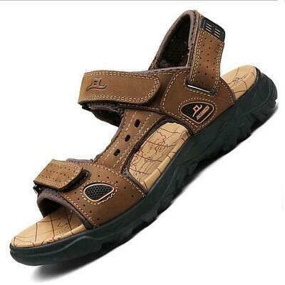 2019 Mens Summer Breath Sandals Outdoor Beach Shoes Casual Flats Straps Open Toe