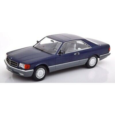 Mercedes 560 SEC (C126) 1980 Blue Metallic 1/18 - 180333 KK SCALE