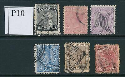 NEW ZEALAND, 1891 to 1/- (all P10) #3, cat £35