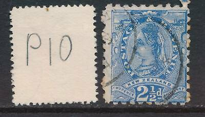NEW ZEALAND, 1891 2½d blue (P10) Fine Used