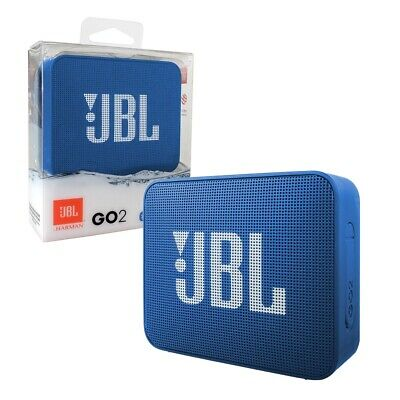 JBL GO 2 Portable Bluetooth Speaker Waterproof and Rechargeable - Blue