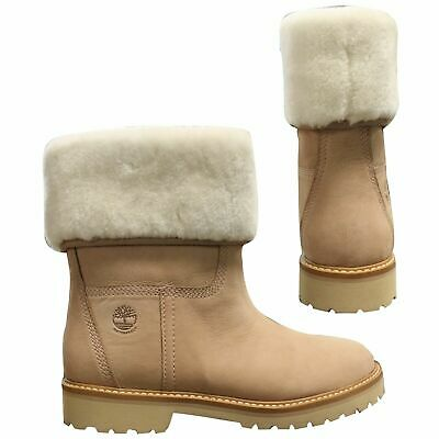 4d1fa0dc6d Timberland Chamonix Valley Shearling Womens Slip On Boots Beige A1SAL T3J