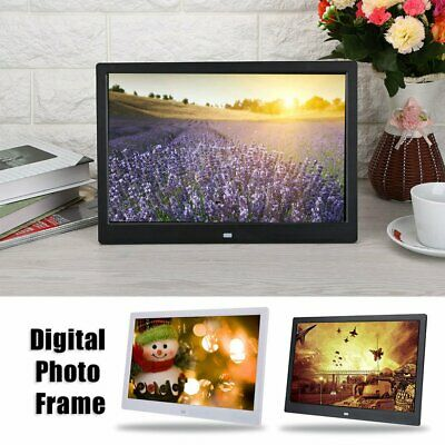 HD Digital Photo Frame 17Inches Front Touch Buttons Multi-language LED Screen CB