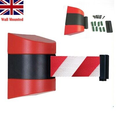 10m Retractable Barrier Tape Safety Warning Warehouse Workshop Crowd Control UK