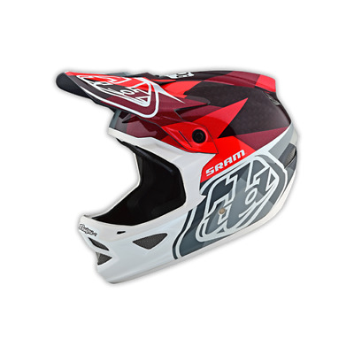 Troy Lee Designs D3 Carbon Helmet Limited Edition Jet Red BMX MTB Downhill 2019