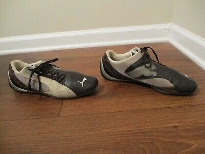 Details about Used Worn Size 14 Puma Mostro Perf Leather Shoes White & Black