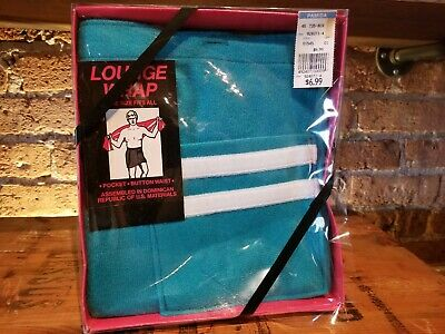 Vintage NOS 1980s mens bathing suit lounge wrap swim cover pocket for speedo