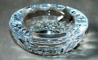 """Beautiful Waterford Crystal Ashtray 3 1/2"""" Diameter Signed"""