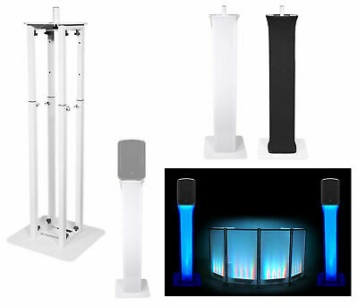 "(1) Rockville White Adjustable Totem Stand For Behringer MPA200BT 8"" Speaker"