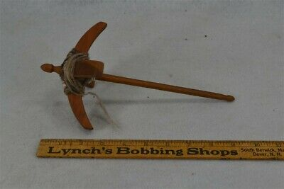 """drop spindle yarn winder spinning combined 10"""" long hand carved walnut original"""