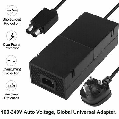 UK Power Supply Adapter Replacement Mains Charger Cable For Microsoft Xbox One