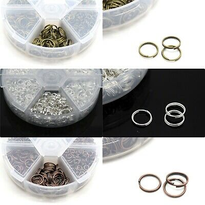 Box Of Iron Plated Split Rings 4-10Mm Approx 1500Pcs - Pick Colour