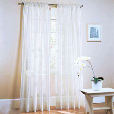1Pair (2 Panels) Of Lucy Voile Slot Top Panels -Quality Net & Voile Curtains UK