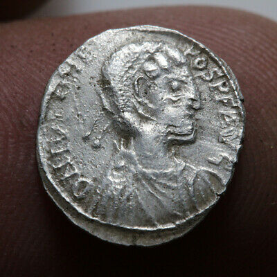 Scarce-Byzantine Coin Silver-Ostrogoth Silver Coin In The Name Of Justinian I