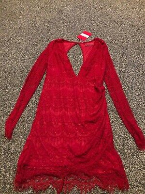 NEW with tag bundle inc BOOHOO red plunge dress BONMARCHE + NEW M&S tops sze 12