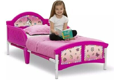 Rainbow Dreams Toddler Children Boys Girls Kids Unicorn Bed with Bedguard NEW