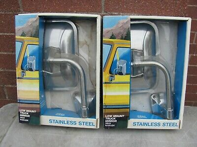 Vintage Set of HARADA Low Mount Truck Mirrors New/old Stock #3501