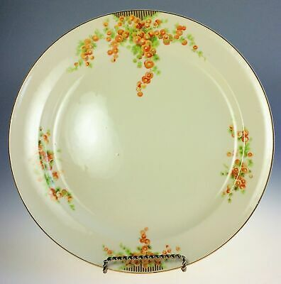 Taylor Smith Taylor TST 1940s Acacia Pattern Dinner Plate Set of 2 Orange Floral