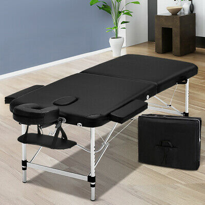 Zenses 80CM Portable 3 Fold Aluminium Massage Table Therapy Beauty Waxing Bed