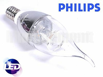 Philips 5w E14 220v 50Hz Warm 350lm CRI80 LED Bent Tip Candle Silver bulb