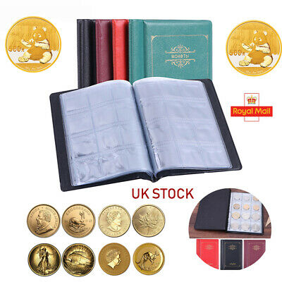Album Coin Penny Money Storage Book Case Folder Holder Collection 2 Style UK 120