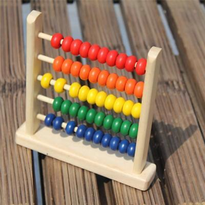 Wooden Child Counting Bead Abacus Maths Educational Kids Eucation Toy SALE HO3