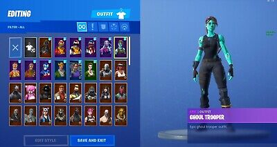 Og Fortnite Account With Ghoul Trooper.
