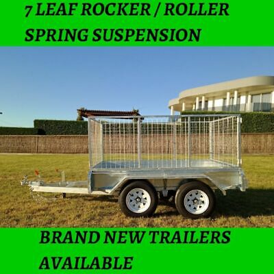 8x5 tandem axle trailer fully hot dipped galvanised trailer