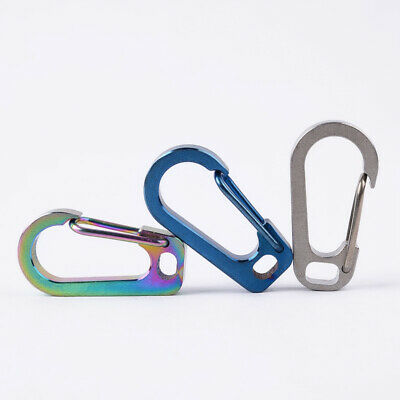 1pcs Titanium Alloy Carabiner D-Ring Key Chain Keychain Outdoor Hook Buckle H3O3