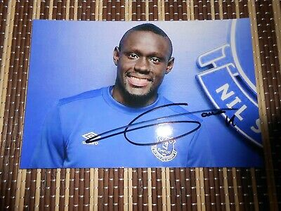 Idriss Geye, Everton Footballer, Original Hand Signed Photo 6 x 4
