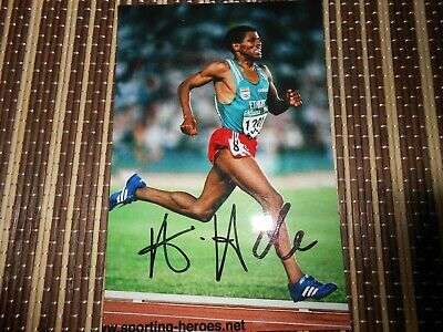 Halle Gebrselassie, Athlete, Original Hand Signed Photo 6 x 4