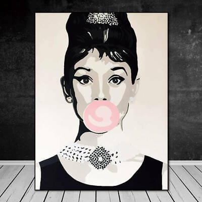 Canvas Painting Wall Art Picture home decor print poster Audrey Hepburn Unframed