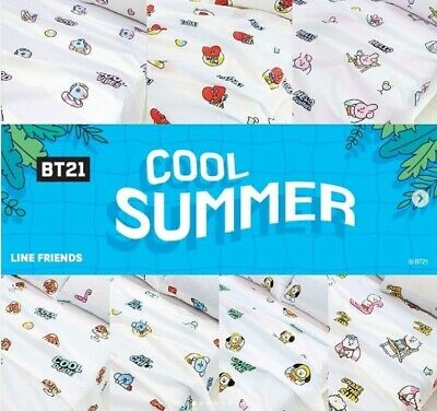 New BTS BT21 Character Official Goods, Summer Ripple Blanket Covers Bed Sheet