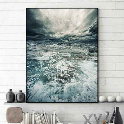 Canvas painting Wall art picture on seawater for living room decoration Unframed