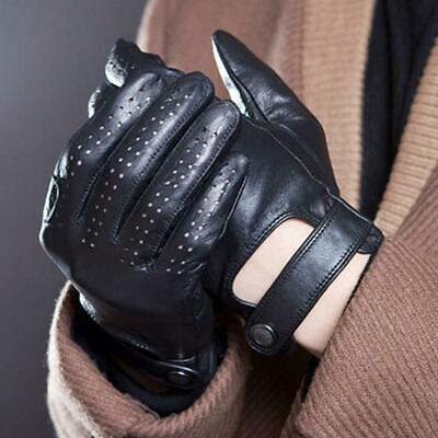MEN CLASSIC DRIVING GLOVES REAL LAMBSKIN LEATHER 2 COLORS S/M/L/XL. High quality