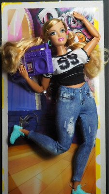 Barbie Doll -Curvy MADE TO MOVE Fashionistas - LONG HAIR -NEW Fashion Fever Face